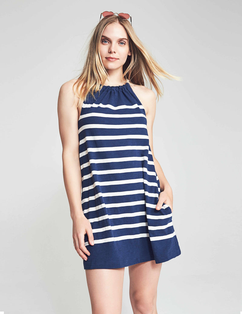Nissi Dress - Blue Toto Stripe
