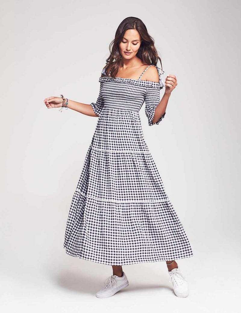 Sylvie Dress - Blue Gingham