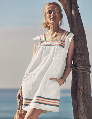 Hailee Washed Cotton Dress - Mirage Stripe