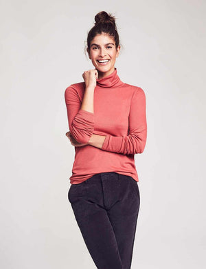 Natural Dyed Turtleneck - Rosie