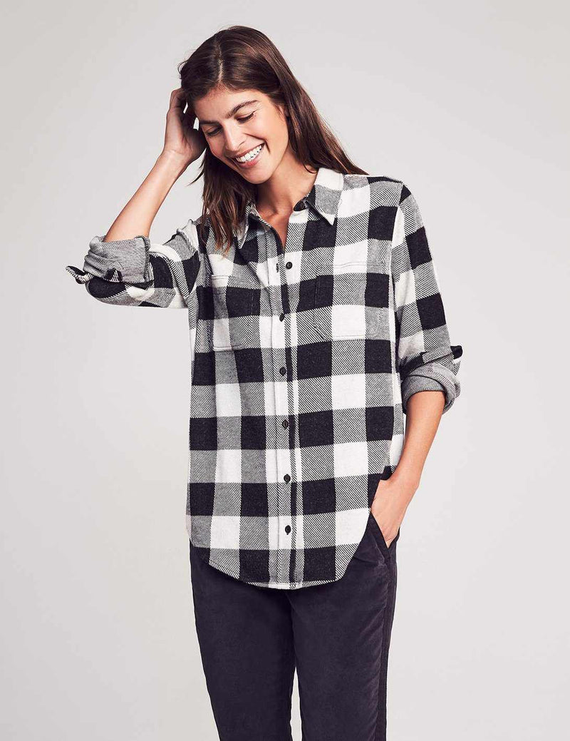 Legend Sweater Shirt - Black/White Buffalo Check