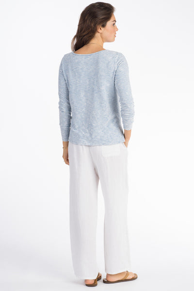 Cruiser Long-Sleeve Top - Salt Wash Indigo Stripe