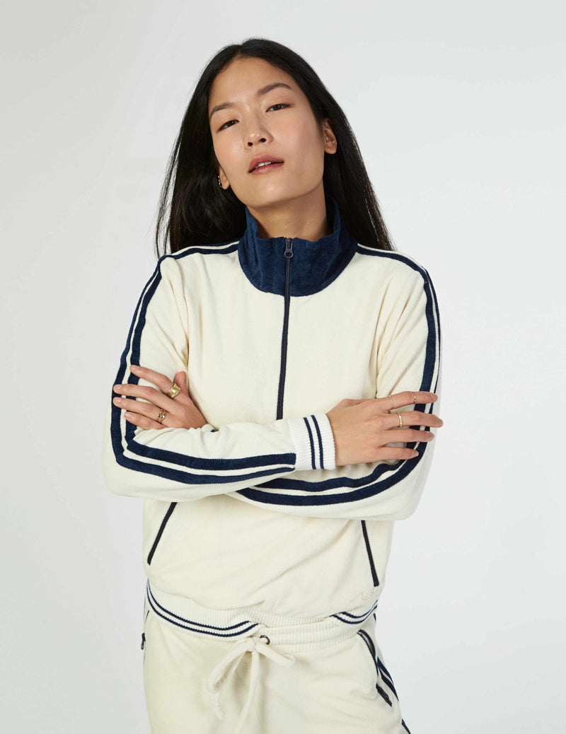Richie Pullover - White/Navy Stripe