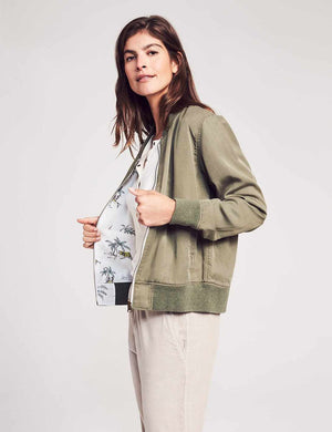 Aloha Reversible Bomber - Pacific Atoll/Olive