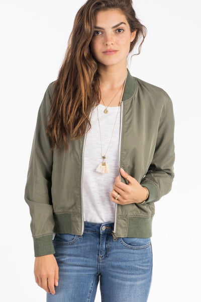 Aloha Reversible Bomber Jacket - Pacific Atoll/Olive
