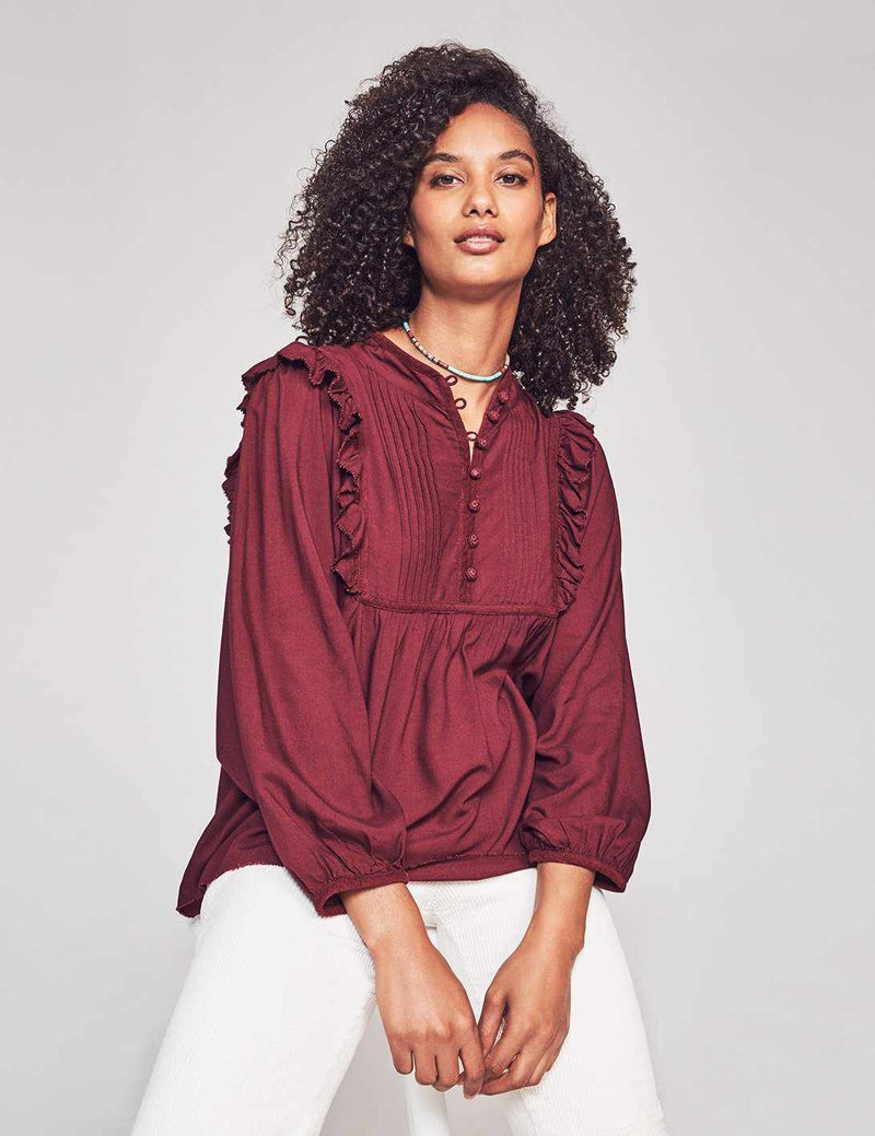 Sparrow Blouse - Burgundy