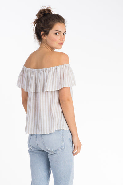 Saylor Top - Stone Stripe
