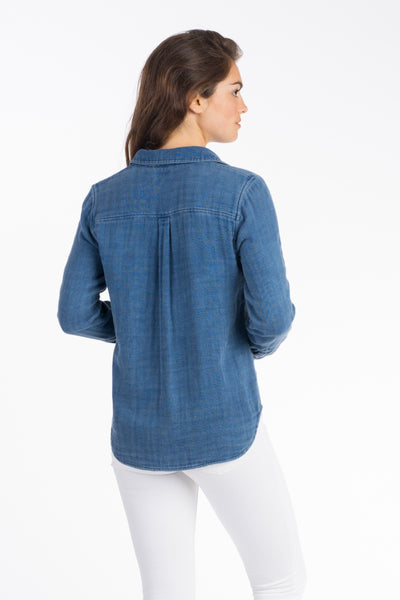 Featherweight Newport Shirt - Indigo Plaid