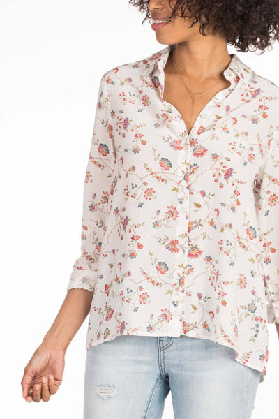 Cora Blouse - Cream Traveling Floral
