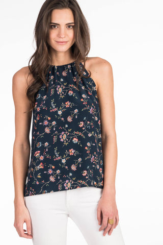 High Seas Tank - Navy Traveling Floral