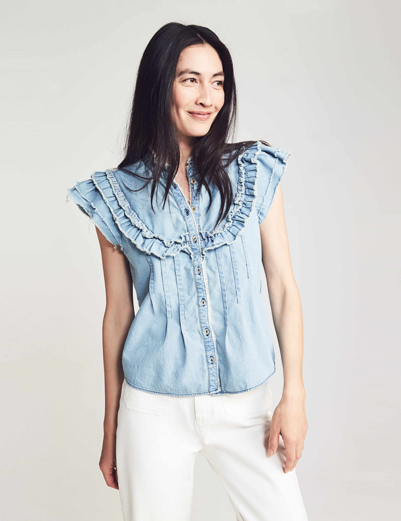 Catarina Blouse - Chambray