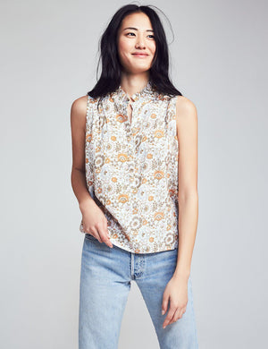 Airy Vintage Floral Top - Joe Floral