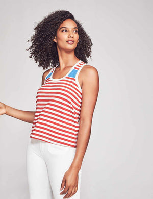 Lani Tank - Red Ida Stripe