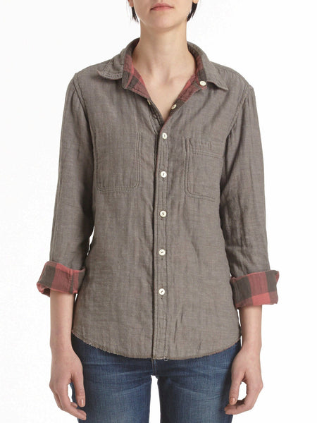 Reversible Belmar Workshirt  - Grey With Black/Red
