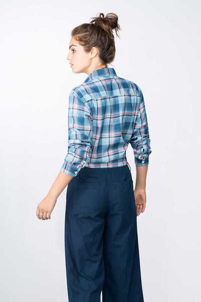 Seasons Workshirt - Light Indigo Sand Plaid
