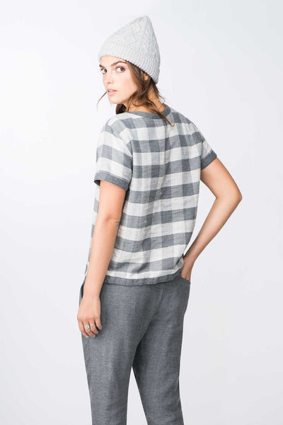 Reversible Doublecloth SS Tee - Grey