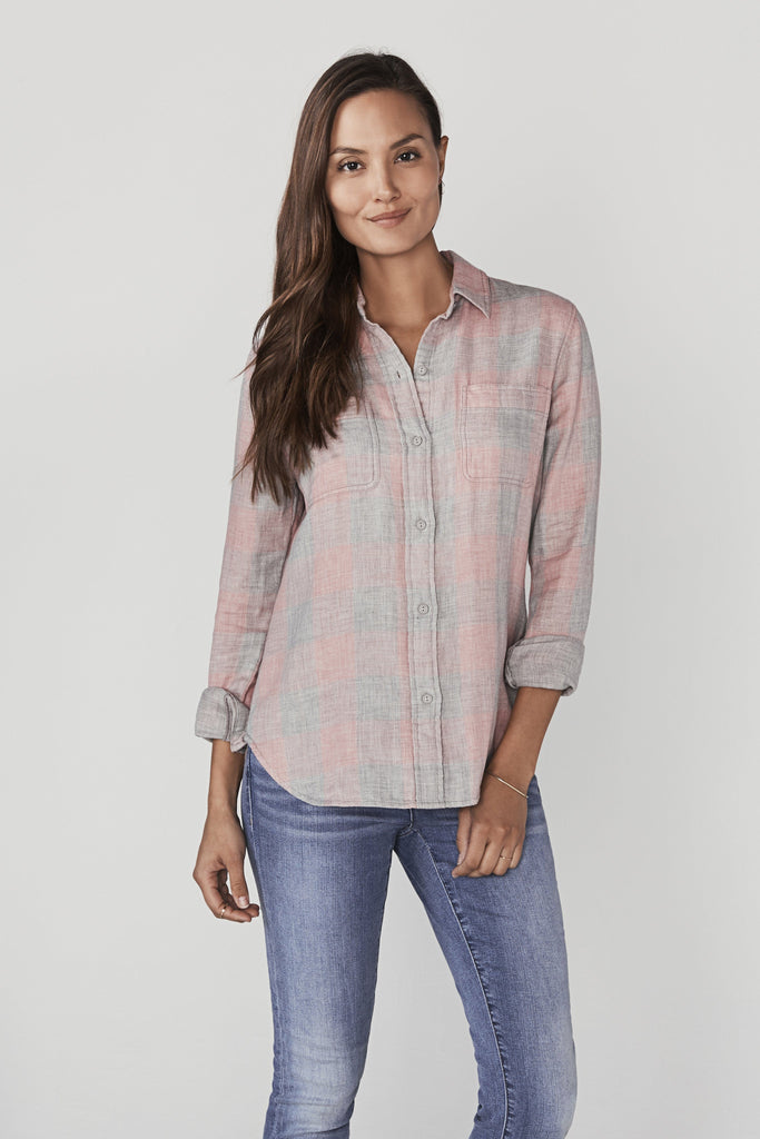 Doublecloth Malibu Shirt - Rosewood Buffalo Plaid