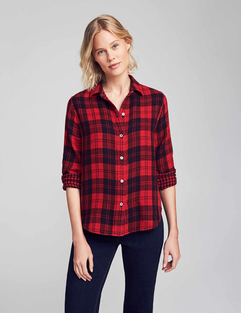 Reversible Belmar Shirt - Red/Black Charley Plaid