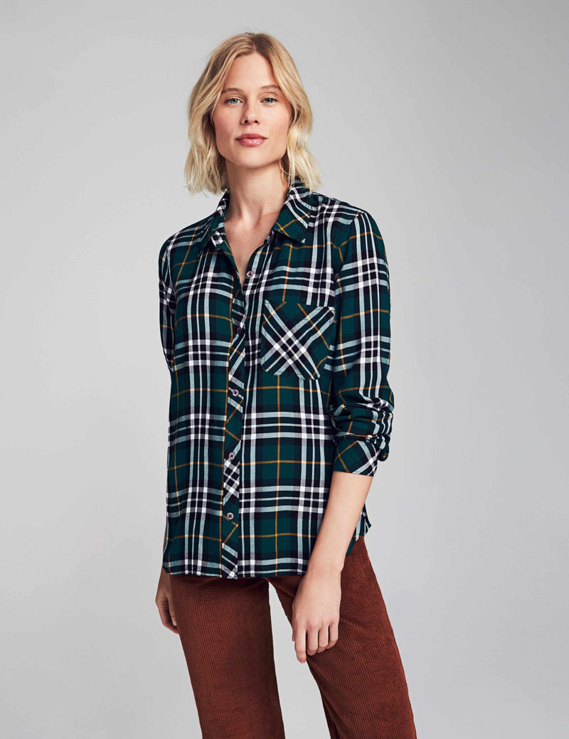 Malibu Shirt - Ivy Plaid