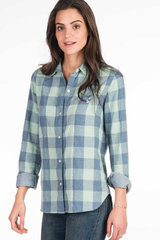 Doublecloth Newport Shirt - Blue Buffalo Check/Chambray