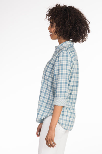 Doublecloth Newport Shirt - Indigo Plaid/Gingham