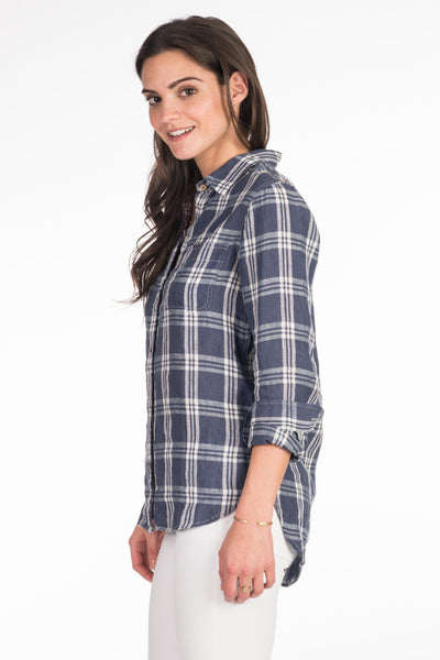 Malibu Shirt - Navy Plaid