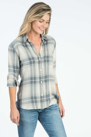 Malibu Shirt - Sea Spray Plaid