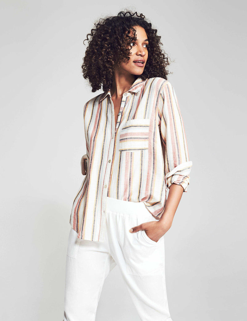 Del Mar Shirt - Joan Stripe