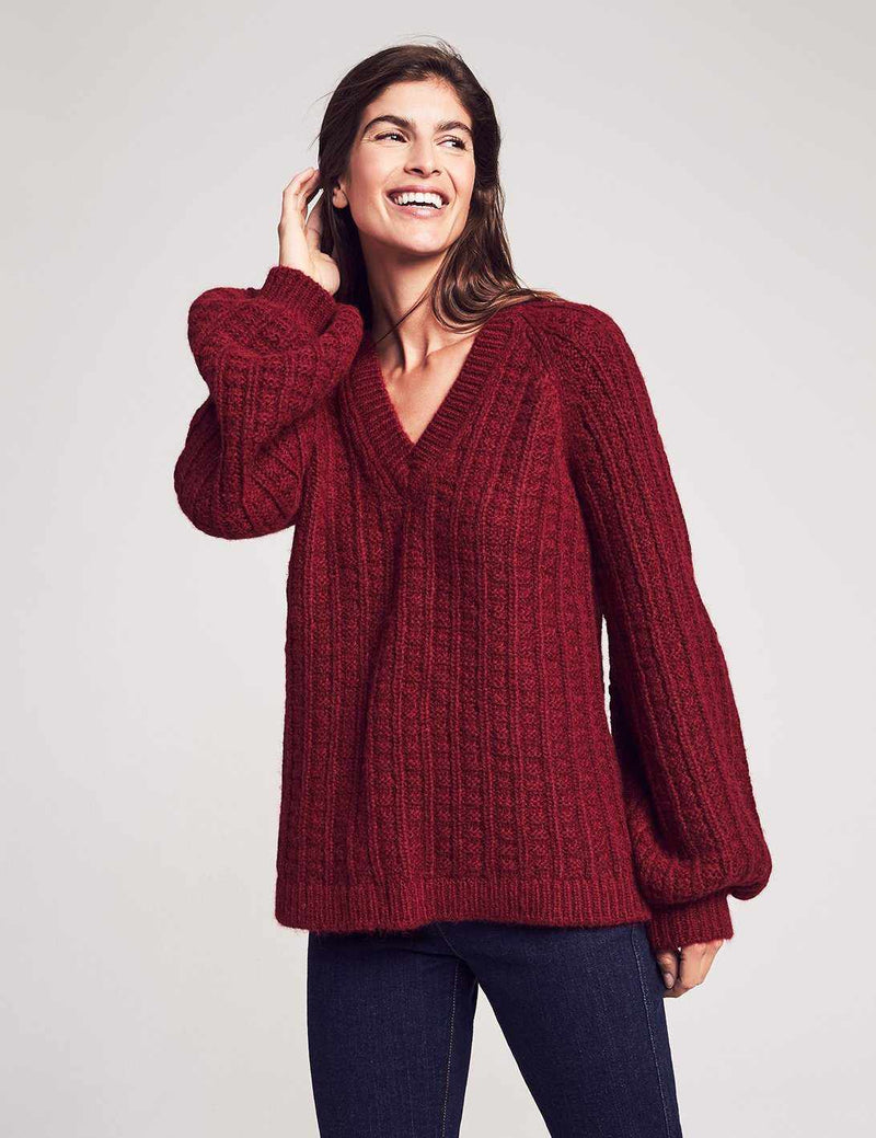 Aria Sweater - Burgundy