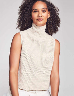 Joni Sleeveless Sweater - Cream
