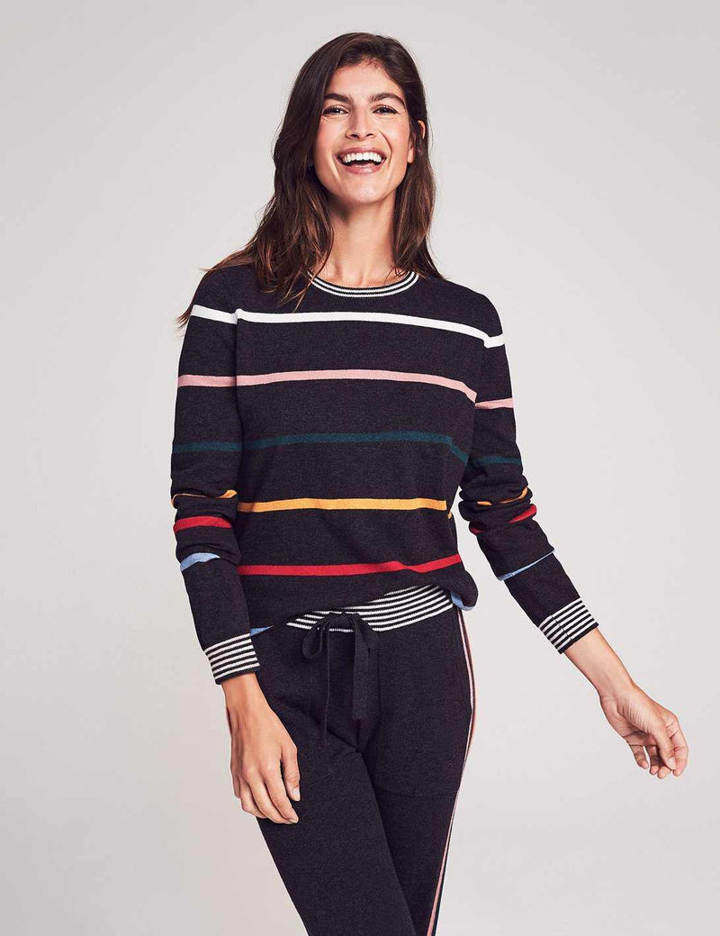 Surf Sweater - Multi Ski Stripe