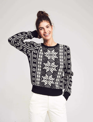 Blanche Sweater - Black Snowflake