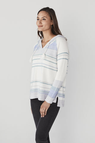Shelter Cove Sweater Poncho - Tourmaline Multi