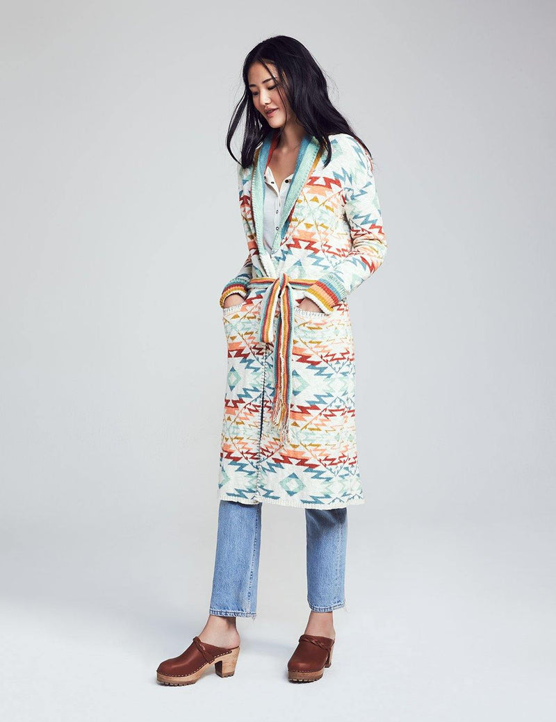 Paloma Cotton Duster Cardigan - Tuscan Multi