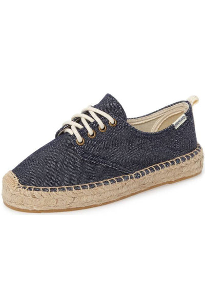 Soludos Oxford Lace Up Platform Slipper - Navy