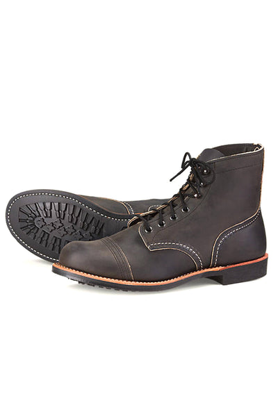 Mens Red Wing Iron Ranger  - Charcoal