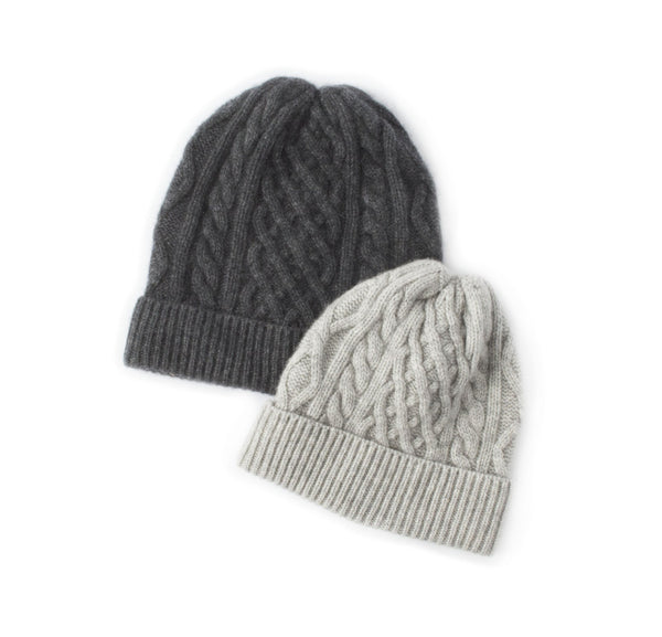 Nomad Cashmere Beanie - Light Grey