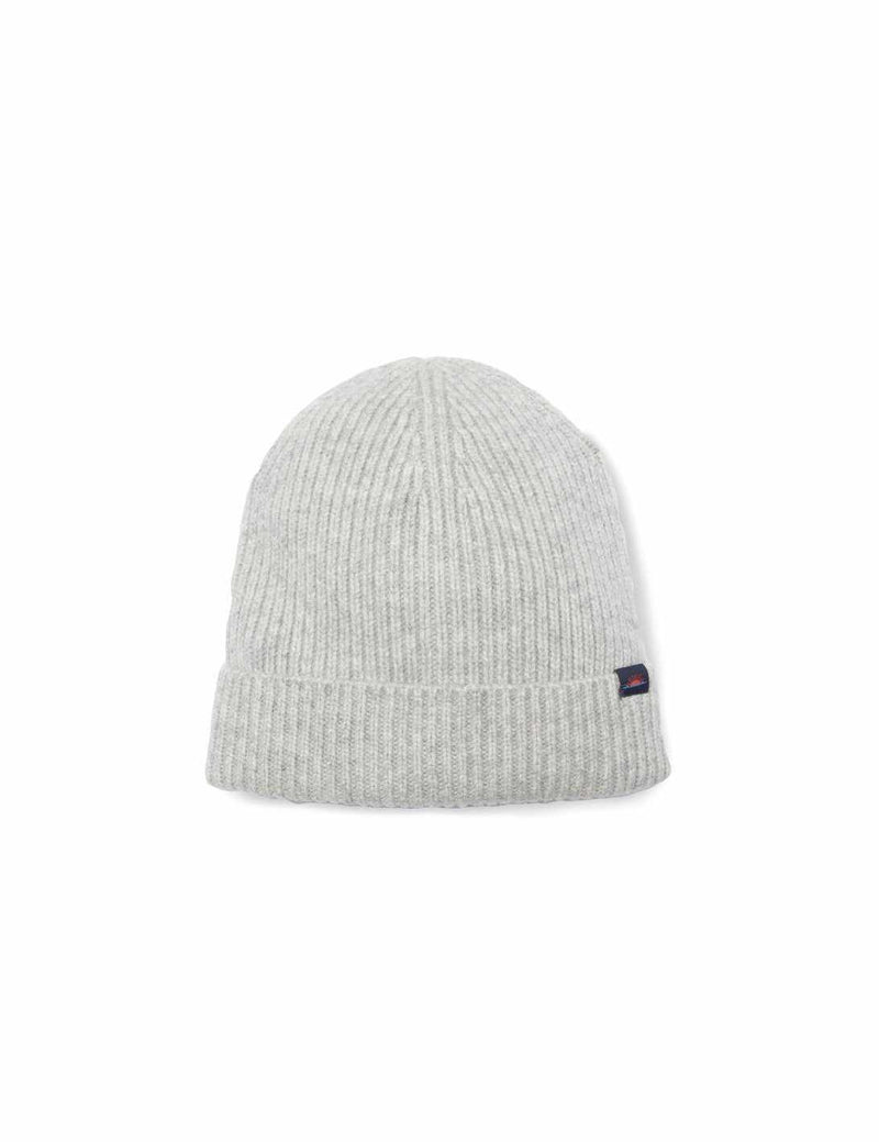 Cashmere Rib Cap - Heather Grey