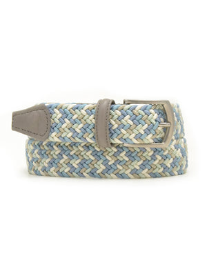 Anderson's Woven Belt - Light Blue/White/Khaki