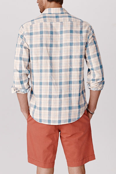 Seaview Shirt - Bleached Red/Lt Indigo