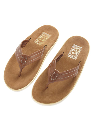 Island Slipper Leather Sandal - Peanut Suede/Whiskey