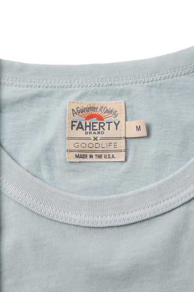 Faherty x Goodlife Beach Tee - Light Blue Montauk