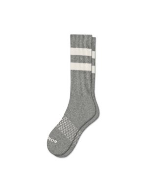 Bombas Vintage Stripe Calf - Grey White