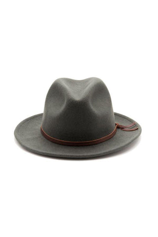 Yellow 108 Luke Fedora - Grey