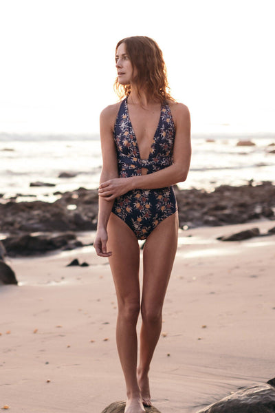 Santorini One Piece - Japanese Floral