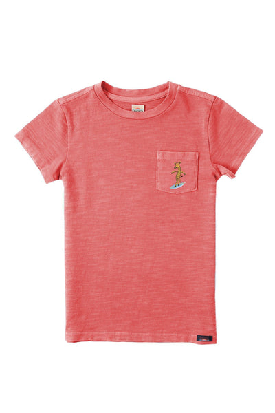 Pacific Pocket Tee - Faded Red