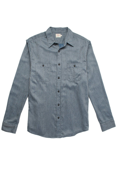 Jaspe Twill Shirt  - Heathered Indigo