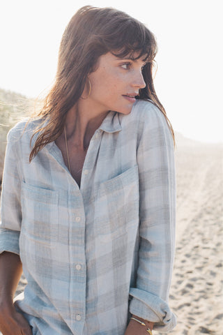 Malibu Shirt - Light Grey Buffalo Check