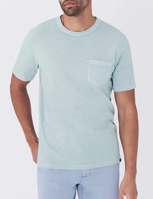 Sunwashed Pocket Tee - Water Blue