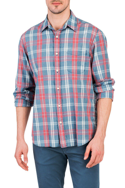 Seaview Shirt - Red/Cream Plaid